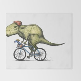Dino Cycler Throw Blanket