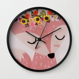 Easter Fox Wall Clock
