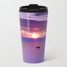 Colorful Cloudy Sunset  Travel Mug