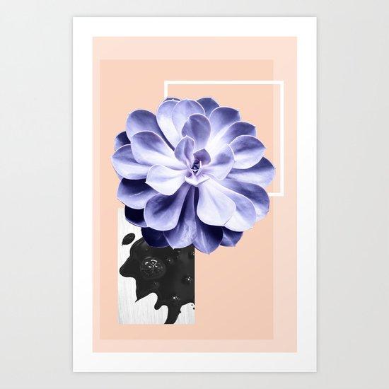Succulents love Art Print
