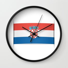 Flag of Croatia.  The slit in the paper with shadows.  Wall Clock