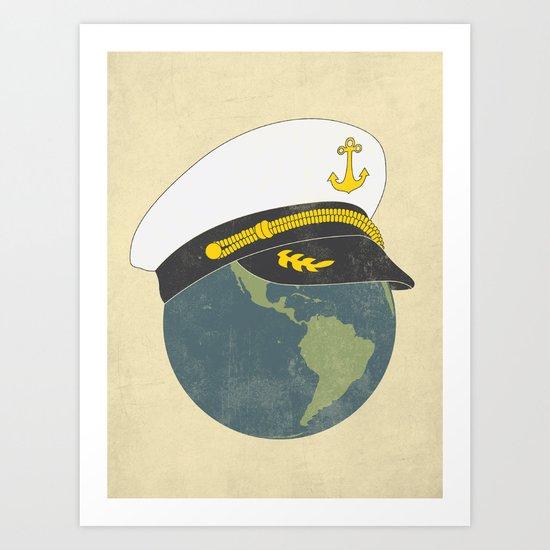 Captain Planet Art Print