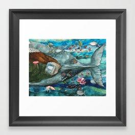Whale - Tail Framed Art Print