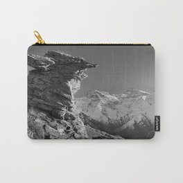 """Living at the mountains"". 3479 meters hight Carry-All Pouch"