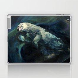 Polar Bear Swimming in Northern Lights Laptop & iPad Skin