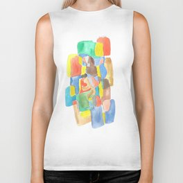 171013 Invaded Space 17 |abstract shapes art design |abstract shapes art design colour Biker Tank