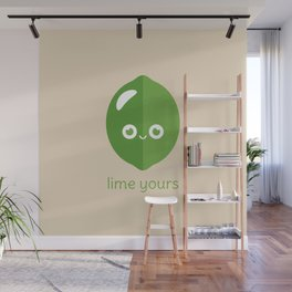 Lime Yours Wall Mural