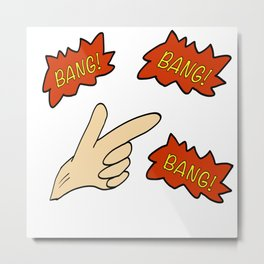 Finger - Bang Metal Print