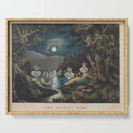 Currier amp Ives PublisherThe fairies home Serving Tray