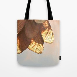Cluster of lightened leaves Tote Bag