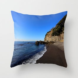 Black Sands Beach Throw Pillow
