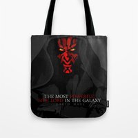 sith Tote Bags featuring sith lord by shizoy