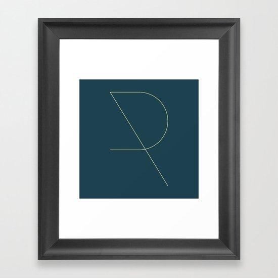 R LIKE R Framed Art Print
