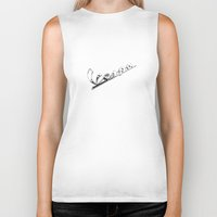 vespa Biker Tanks featuring Vespa by graphic small things