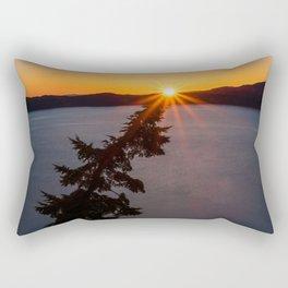Sunset Tree Top Rectangular Pillow