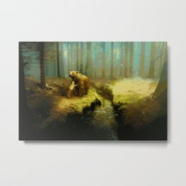 A Little Boy's Dreamscape (Painting) Metal Print
