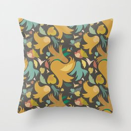 The powerful and yelow spring is coming Throw Pillow