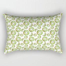 Watercolor Kiwi Rectangular Pillow