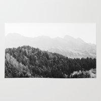 switzerland Area & Throw Rugs featuring Alpine: Interlaken, Switzerland. by vagabond visuals