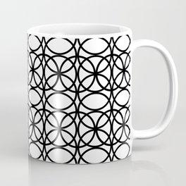 Circle Heaven 2 Illustration, Overlapping Ring Design - Digital Artwork Coffee Mug