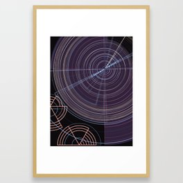 Linear Circles Framed Art Print