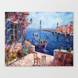 Morning at the Wharf Canvas Print