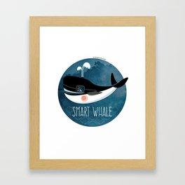 Smart whale Framed Art Print