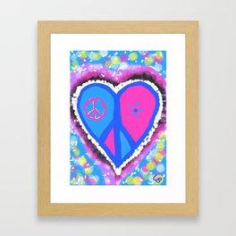 Peaceful heart Framed Art Print
