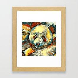 AnimalArt_Panda_20170601_by_JAMColorsSpecial Framed Art Print