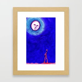MOON WALKER Framed Art Print