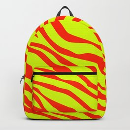 Cherry Red And Sunshine Yellow Zebra Stripes Backpack