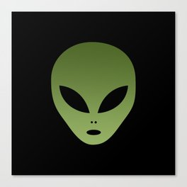 Extraterrestrial Alien Face Canvas Print
