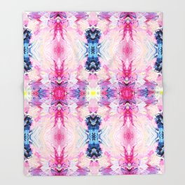 Heydey (Abstract Painting) Throw Blanket