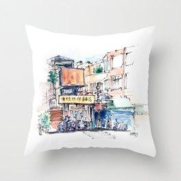 Taipei Bopiliao Old Street Throw Pillow
