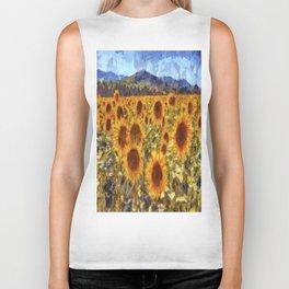 Sunflowers Vincent van Gogh Biker Tank