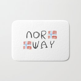 flag of norway 11 – Chalk version  snow,scandinavia,scandinavian,norwegian,oslo Bath Mat