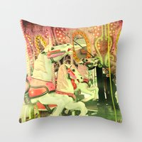 carousel Throw Pillows featuring Carousel by elle moss