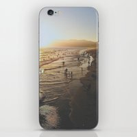 santa monica iPhone & iPod Skins featuring Santa Monica by Jake Boeve