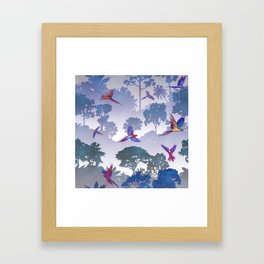 Macaw Canopy // Purple Framed Art Print
