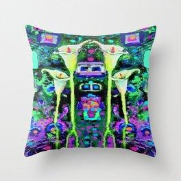 ARTY ART NOUVEAU CALLA LILIES DESIGN Throw Pillow