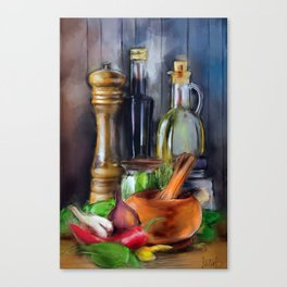 Salad Dressing Canvas Print