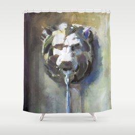 Lionhead Fountain Shower Curtain