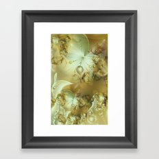 Golden Flowers Framed Art Print