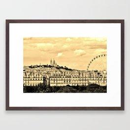 Mon Paris- Sacré Coeur et la roue de Ferris Framed Art Print