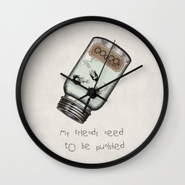 My Friends Need to Be Punished (inspired by Lilo and Stich) Wall Clock