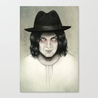 jack white Canvas Prints featuring Jack White by Stephanie Crane