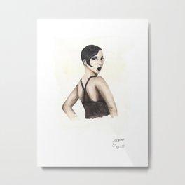 Josephine | Black HERstory Metal Print