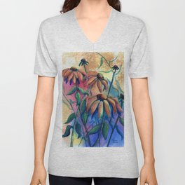 Black Eyed Susans by Maureen Donovan Unisex V-Neck