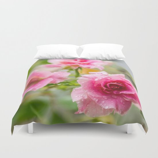Rain on Those Petals of Yours Duvet Cover