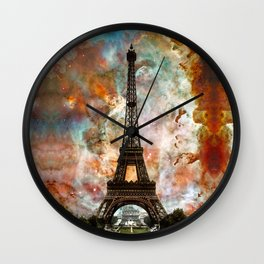 The Eiffel Tower - Paris France Art By Sharon Cummings Wall Clock
